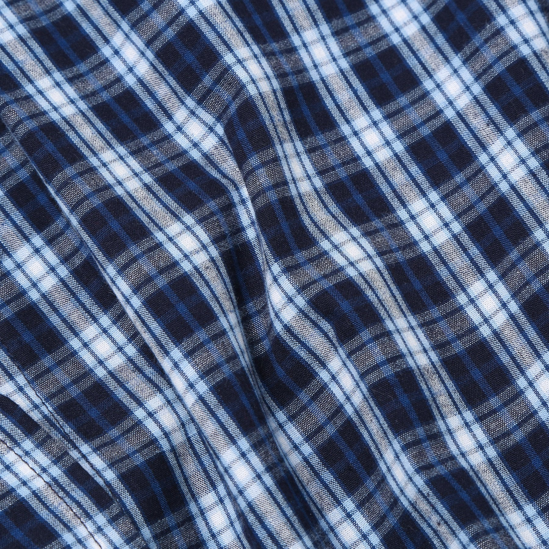 Rael Brook Navy With White Check Dressing Gown Fabric