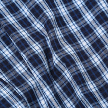 Load image into Gallery viewer, Rael Brook Navy With White Check Dressing Gown Fabric