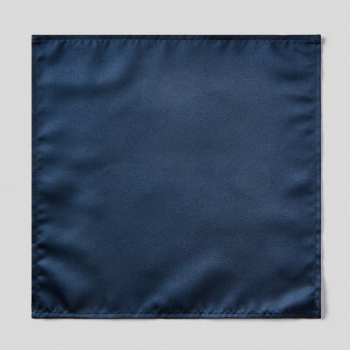 Folkespeare Navy Satin Pocket Square