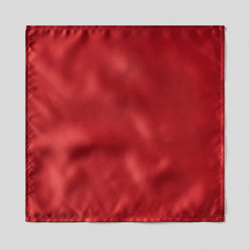 Folkespeare Wine Satin Pocket Square