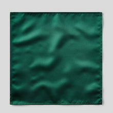 Load image into Gallery viewer, HA0030-09-Folkespeare-Bottle-Green-Satin-Pocket-Square-1