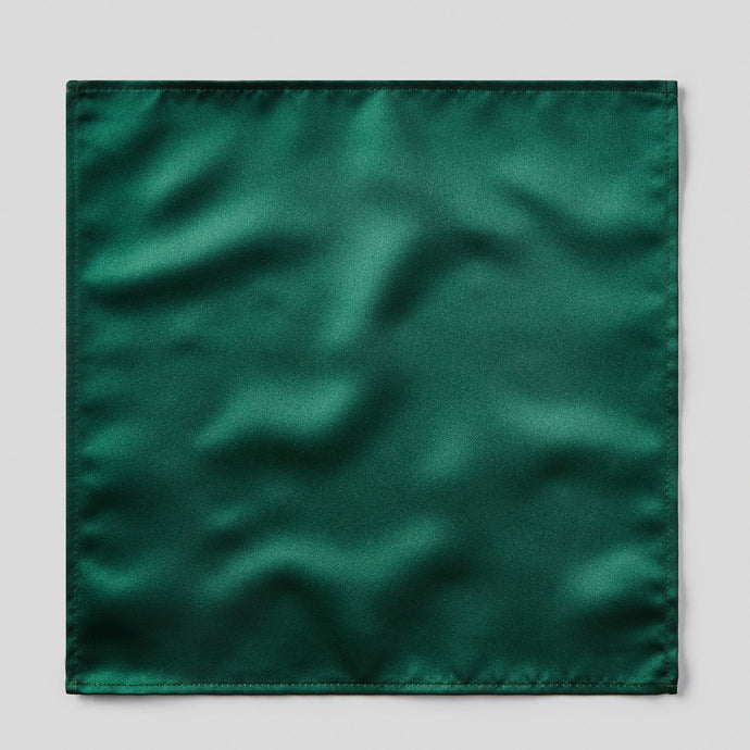 Folkespeare Bottle Green Satin Pocket Square