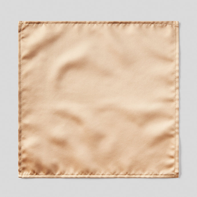 Folkespeare Beige Satin Pocket Square