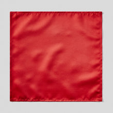 Load image into Gallery viewer, Folkespeare Scarlet Red Satin Pocket Square
