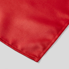 Load image into Gallery viewer, Folkespeare Scarlet Red Satin Pocket Square finishing