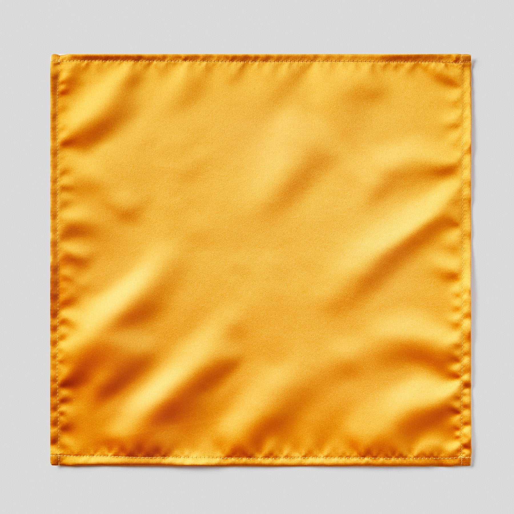 Folkespeare Burnt Orange Satin Pocket Square