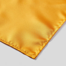 Load image into Gallery viewer, Folkespeare Burnt Orange Satin Pocket Square finishing