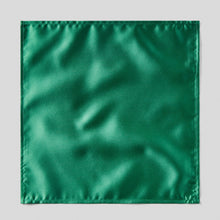 Load image into Gallery viewer, HA0030-27-Folkespeare-Forest-Green-Satin-Pocket-Square-1