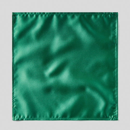 Folkespeare Forest Green Satin Pocket Square
