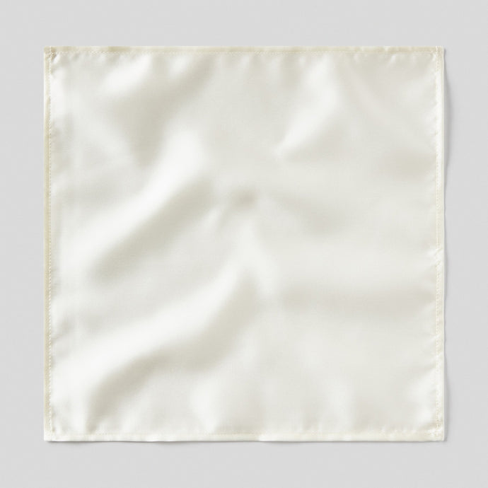 Folkespeare Ivory Satin Pocket Square