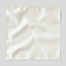 Load image into Gallery viewer, Folkespeare Ivory Satin Pocket Square