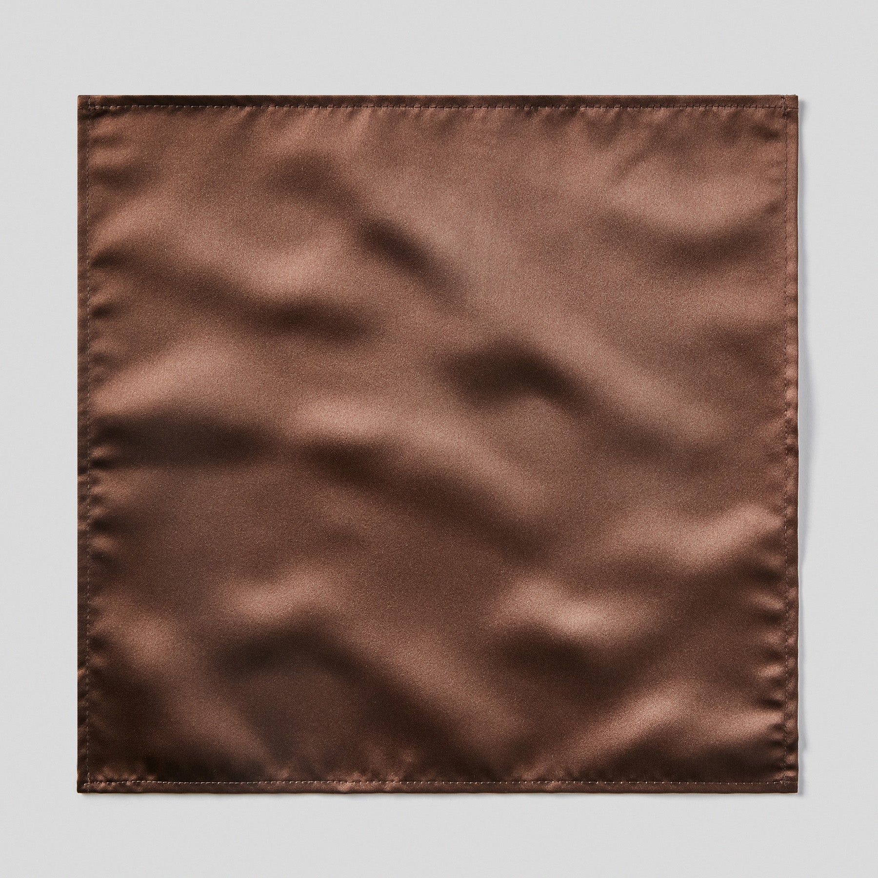 Folkespeare Chocolate Satin Pocket Square