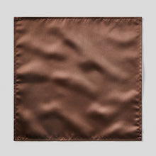 Load image into Gallery viewer, Folkespeare Chocolate Satin Pocket Square