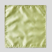 Load image into Gallery viewer, HA0030-44-Folkespeare-Avocado-Satin-Pocket-Square-1