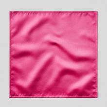 Load image into Gallery viewer, Folkespeare Cerise Satin Pocket Square