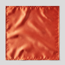 Load image into Gallery viewer, Folkespeare Rust Satin Pocket Square
