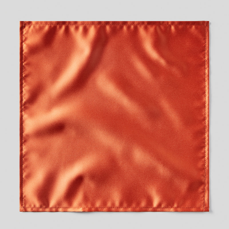 Folkespeare Rust Satin Pocket Square