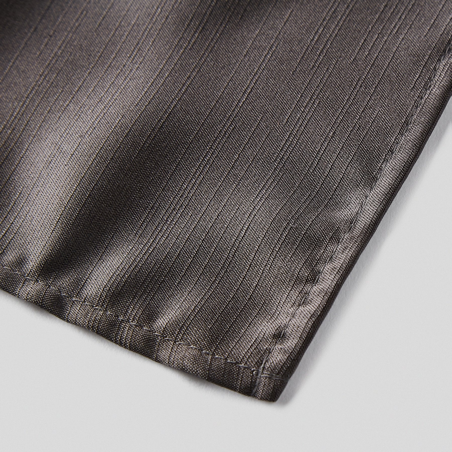 Folkespeare Charcoal Slub Pocket Square finishing