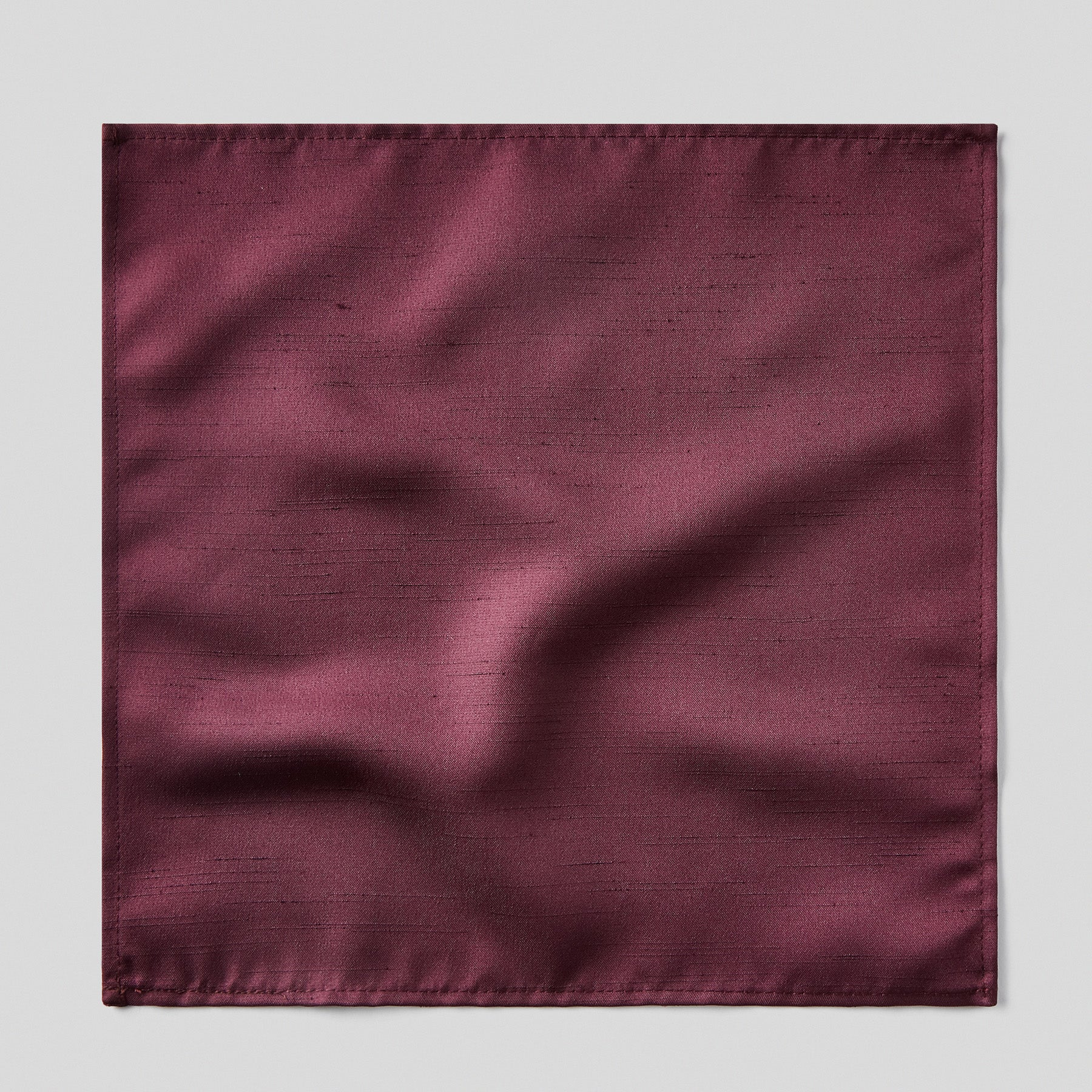 Folkespeare Maroon Slub Pocket Square