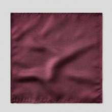 Load image into Gallery viewer, Folkespeare Maroon Slub Pocket Square