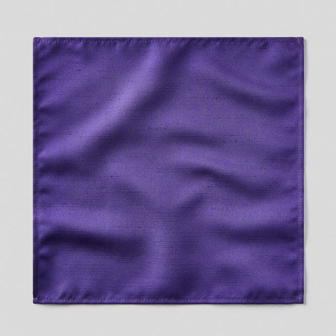 Folkespeare Purple Slub Pocket Square