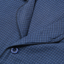Load image into Gallery viewer, Rael Brook Standard Fit Navy Check Brushed Cotton Pyjama Set Collar and Fastening