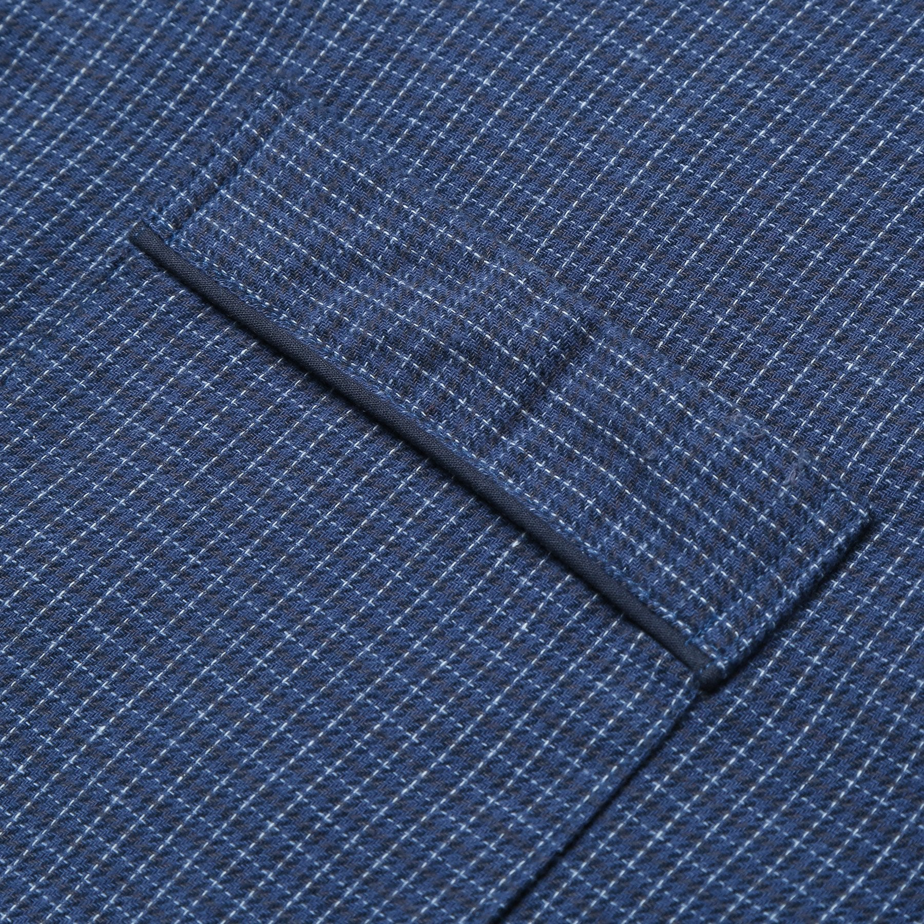 Rael Brook Standard Fit Navy Check Brushed Cotton Pyjama Set Cuff Detail