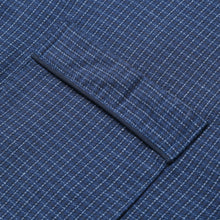 Load image into Gallery viewer, Rael Brook Standard Fit Navy Check Brushed Cotton Pyjama Set Cuff Detail
