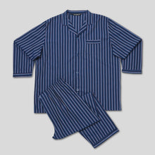 Load image into Gallery viewer, P191-Rael-Brook-Standard-Fit-Navy-With-Stripe-Woven-Pyjama-Set-1