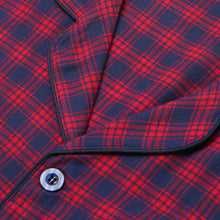 Load image into Gallery viewer, Rael Brook Standard Fit Red Check Brushed Cotton Pyjama Set Collar and Fastening
