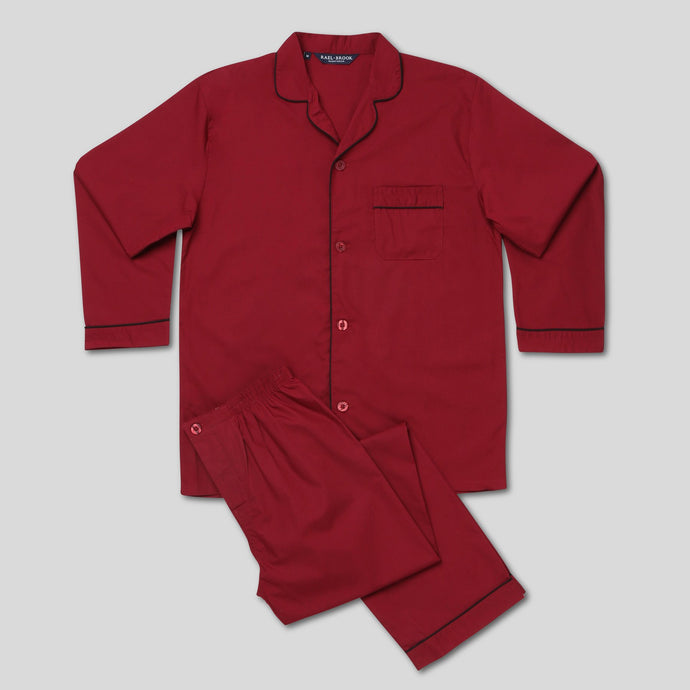 Rael Brook Standard Fit Wine Pyjama Set