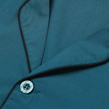 Load image into Gallery viewer, Rael Brook Standard Fit Teal Pyjama Set Collar and Fastening