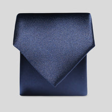 Load image into Gallery viewer, Folkespeare Boys Navy Satin Classic Tie