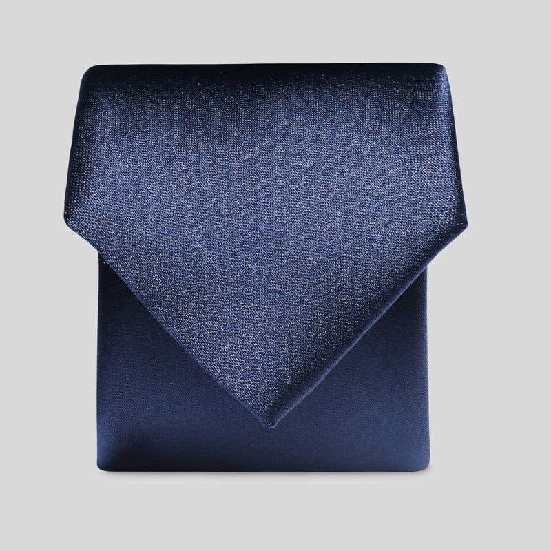 Folkespeare Boys Navy Satin Classic Tie