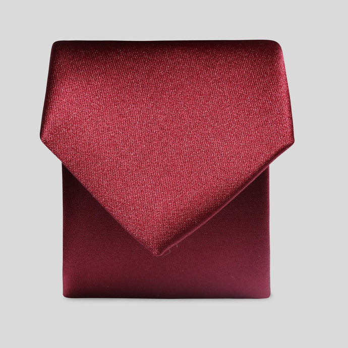 Folkespeare Boys Burgundy Satin Classic Tie