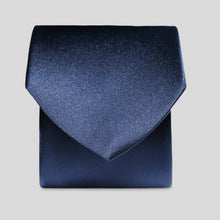 Load image into Gallery viewer, Folkespeare Navy Satin Clip On Tie