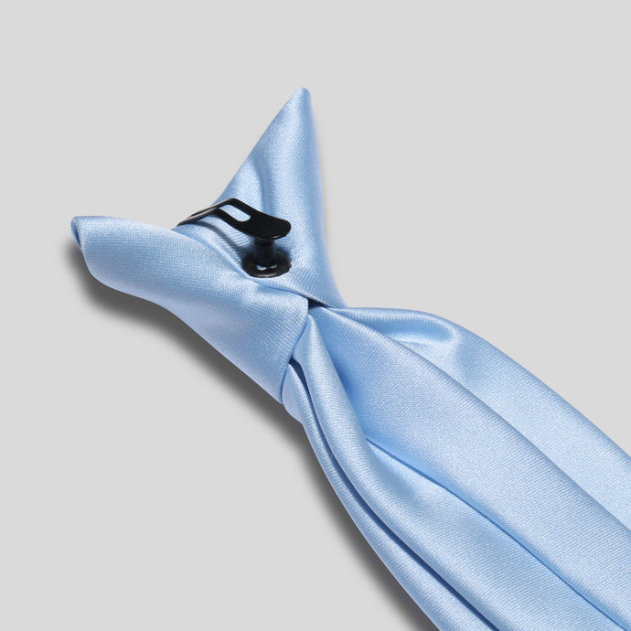 Folkespeare Light Blue Satin Clip On Tie Clip