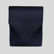 Load image into Gallery viewer, Folkespeare Navy Knitted Slim Tie