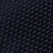 Load image into Gallery viewer, Folkespeare Navy Knitted Slim Tie Fabric