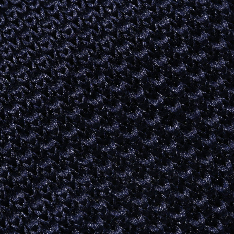 Folkespeare Navy Knitted Slim Tie Fabric