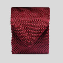 Load image into Gallery viewer, Folkespeare Burgundy Knitted Slim Tie