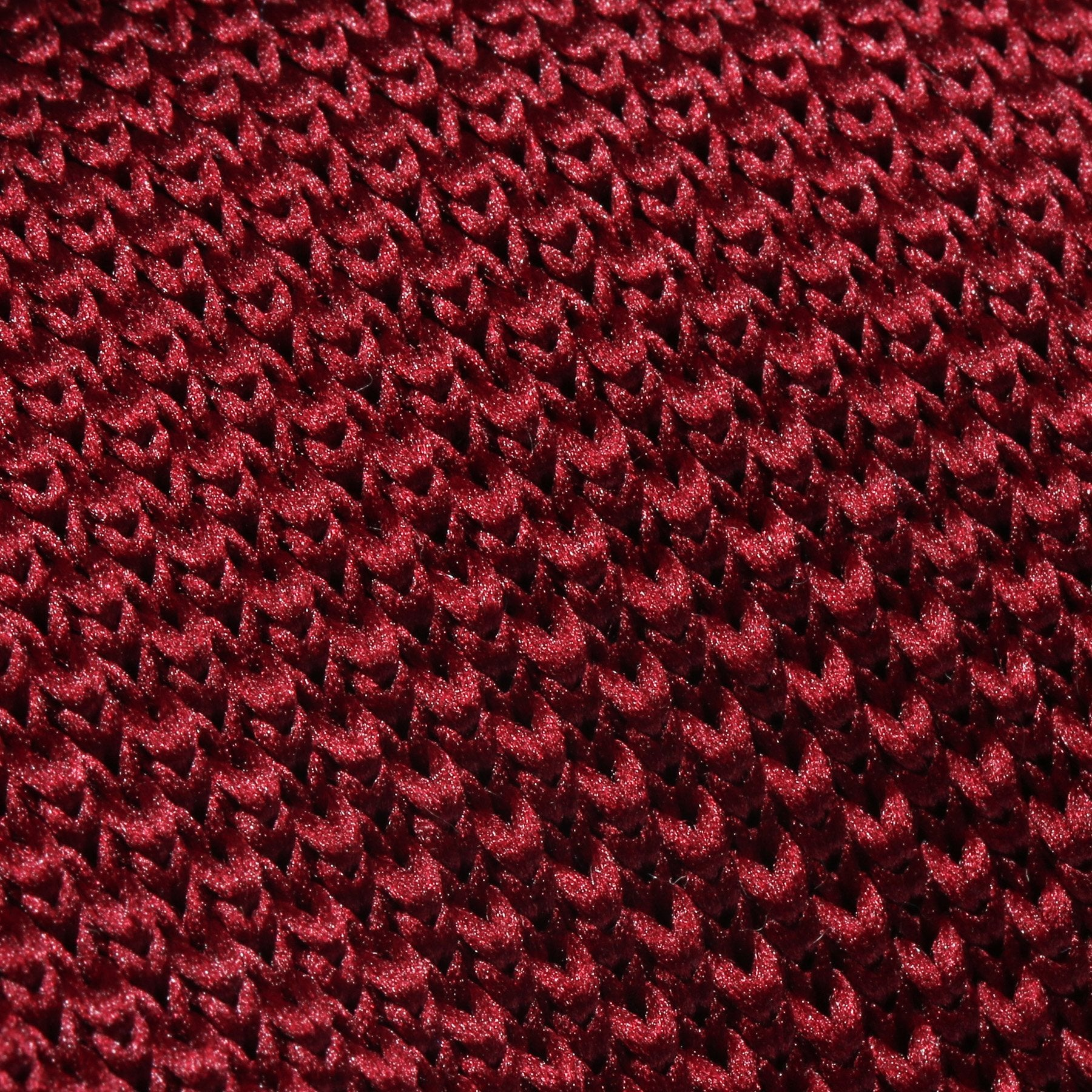 Folkespeare Burgundy Knitted Slim Tie Fabric