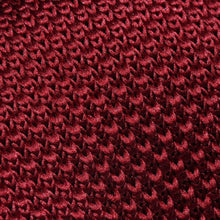 Load image into Gallery viewer, Folkespeare Burgundy Knitted Slim Tie Fabric