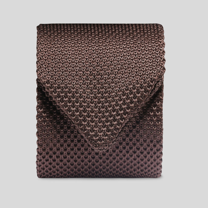 Folkespeare Brown Knitted Slim Tie