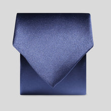 Load image into Gallery viewer, Folkespeare French Navy Satin Classic Tie