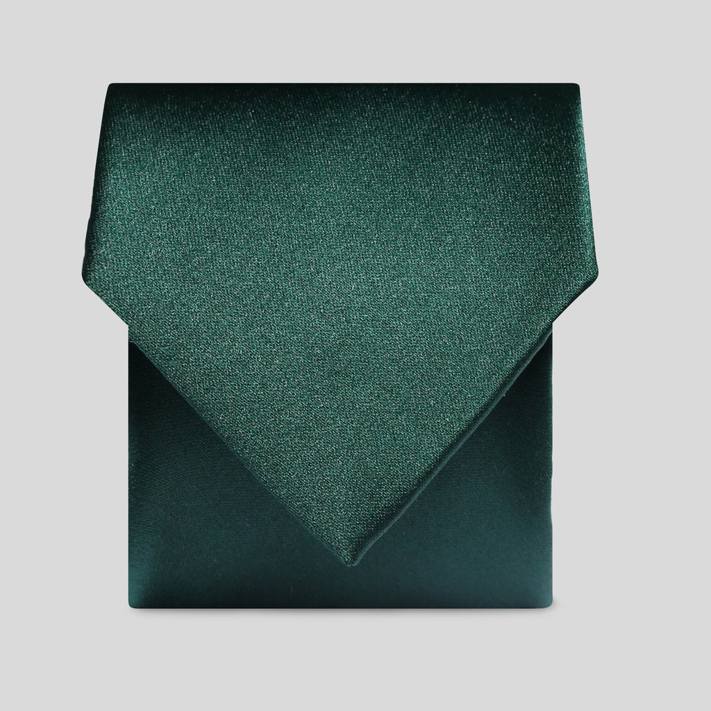 Folkespeare Bottle Green Satin Classic Tie