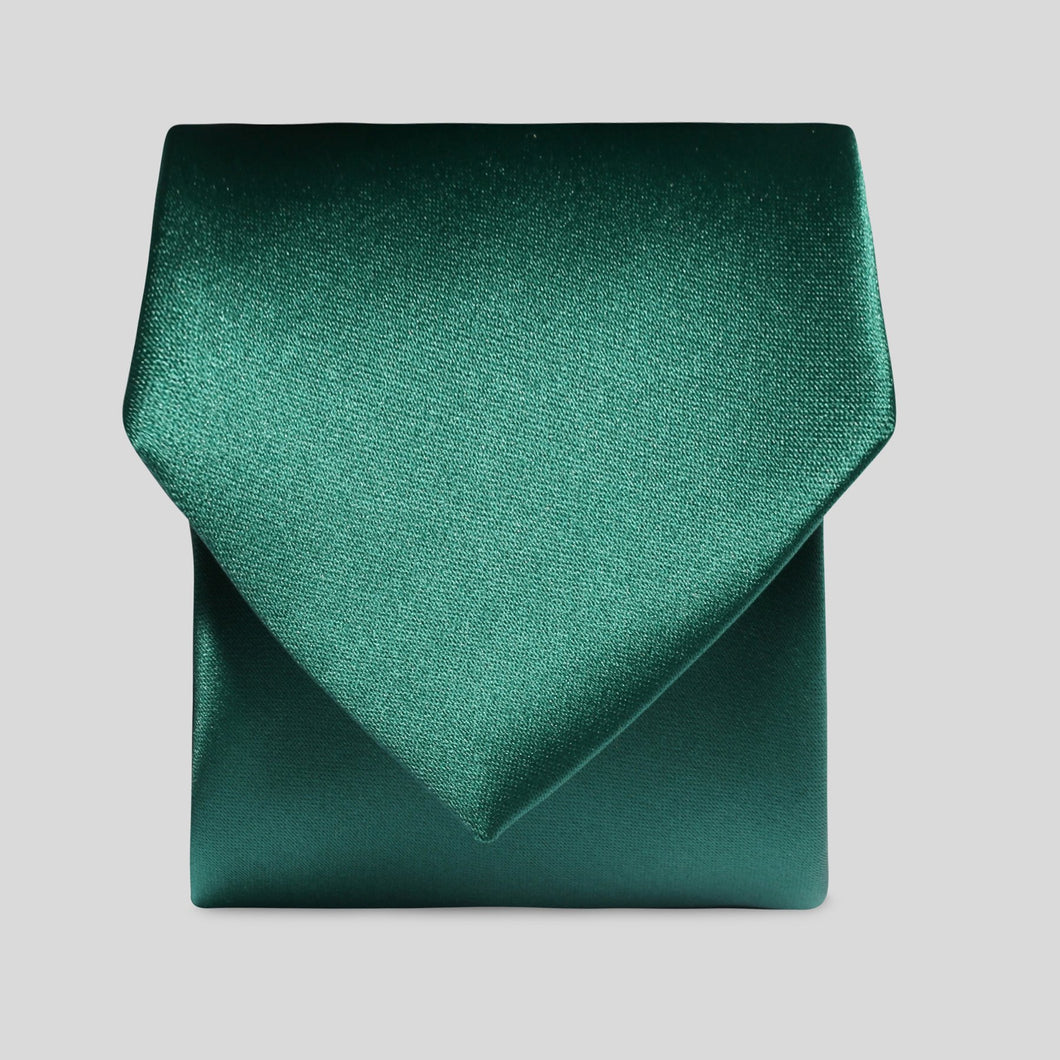Folkespeare Forest Green Satin Classic Tie