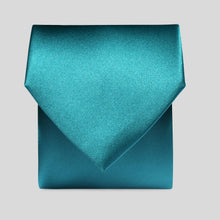 Load image into Gallery viewer, Folkespeare Teal Satin Classic Tie