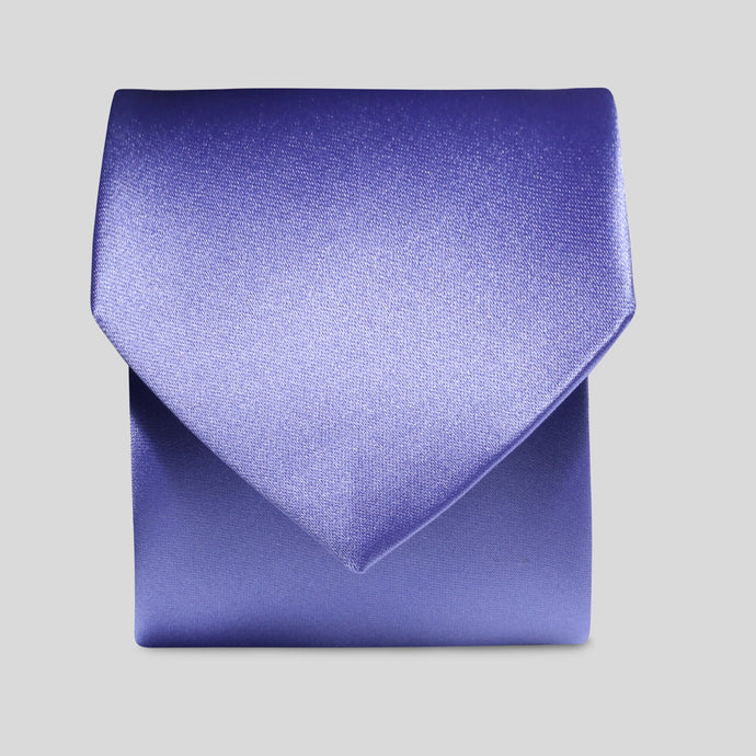 Folkespeare Violet Satin Classic Tie