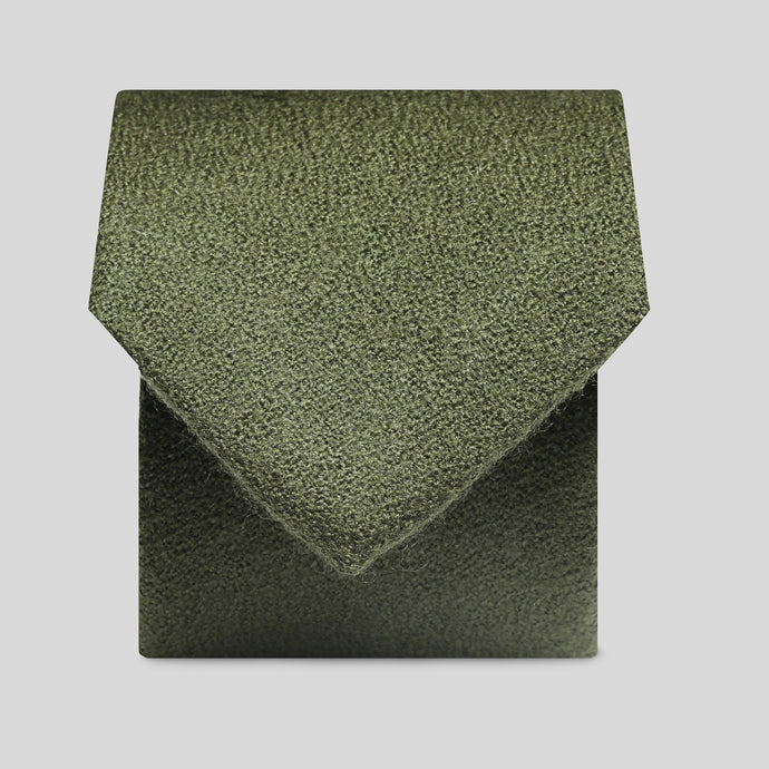 Folkespeare Olive Wool Classic Tie